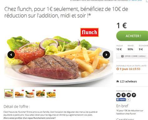 Bon De Réduction De 10 Euros Chez Flunch