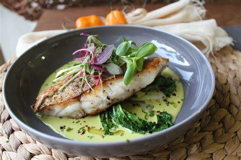 seared grouper pan recipes bok choy broth turmeric chili coconut fish tapas