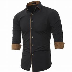 Men Shirt 2017 Brand Shirts Men Casual Male Slim Fit ...