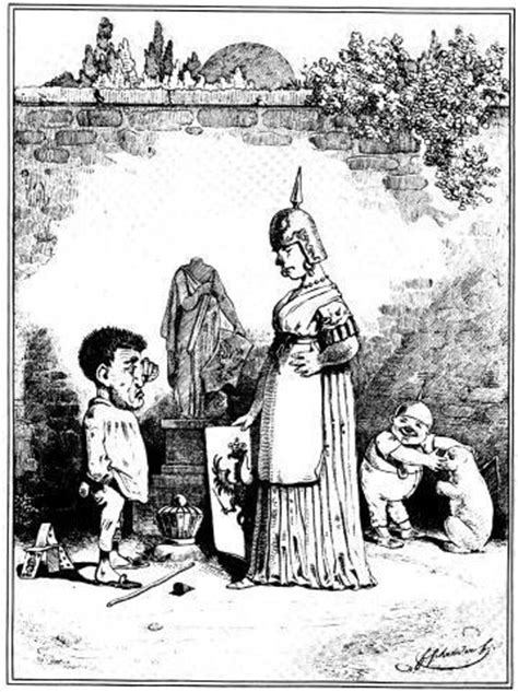 """was bedeutet der Bär in der Karikatur """"Die Ablehnung der"""