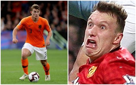man united fans label de ligt dutch phil jones