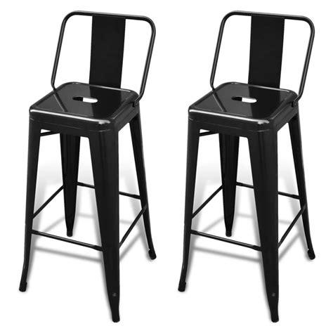chaise haute de bar bar chair high chairs bar stools square 2 pcs back black vidaxl com