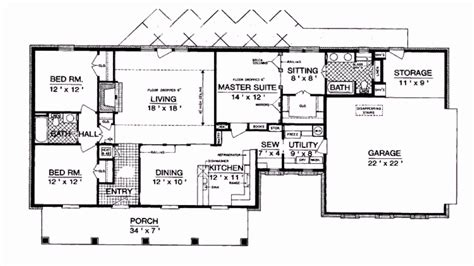 floor plans rectangular house 2400 sq ft ranch house plans