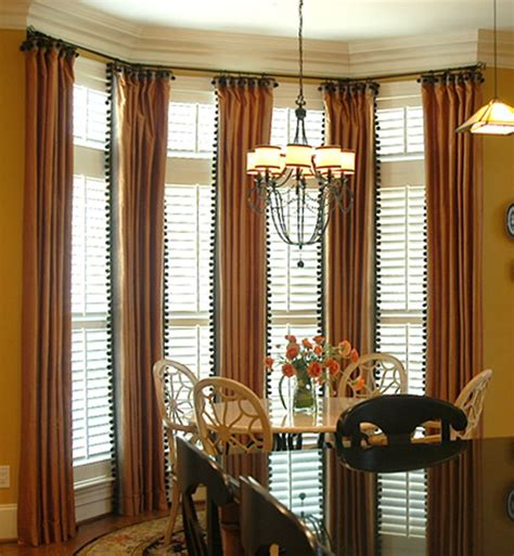 bay window treatment for windows two story window