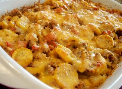 food to make with hamburger mexican squash and ground beef casserole recipe genius kitchen