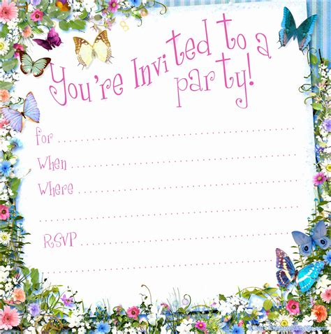 Blank Invitation Template toreto Free Free Blank