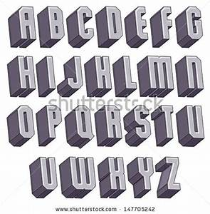 3d geometric font halftone dots texture stock vector With 3 dimensional letters