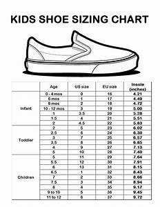 Kids Shoe Size Chart Sizing Chart Kids Fashion