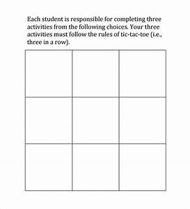 tic tac toe sample 19 example format With tic tac toe template for teachers
