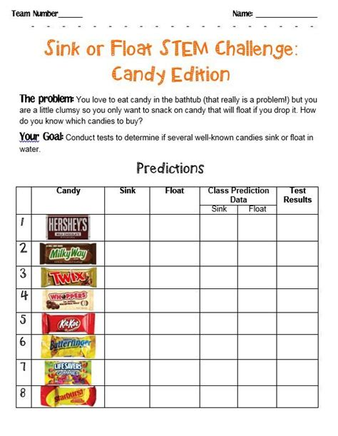 sink or float experiment stem challenge sink or float candies for the classroom