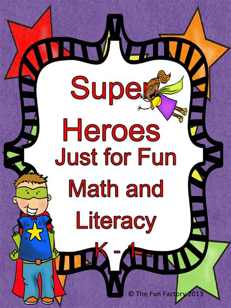 super heroes math  literacy freebie  images fun