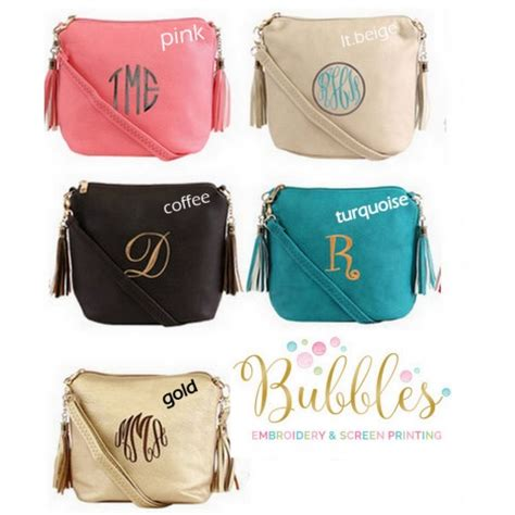 monogram tassel crossbody bag