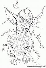 Coloring Gremlins Gremlin Popular Library Clipart sketch template