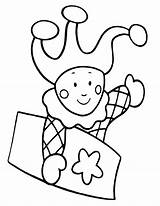 Jester Coloring sketch template