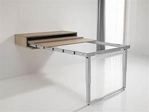 Table Haute Pliable : table cuisine modulable table manger bois objets ~ Teatrodelosmanantiales.com Idées de Décoration