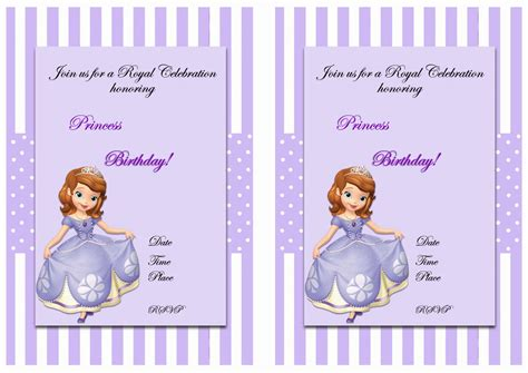 sofia   birthday invitations birthday printable