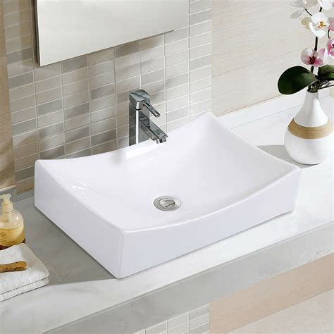 Bathroom Basin Sink by Bathroom Rhombus Ceramic Vessel Sink Vanity Pop Up Drain