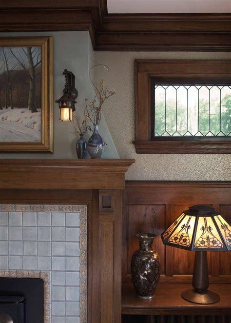 craftsman fireplace trehus architects