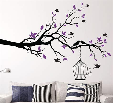 tree sticker wall decor aliexpress buy tree branch with bird cage wall sticker vinyl wall decals wall stickers
