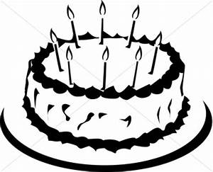 Birthday Cake Black And White Clipart - Clipart Suggest