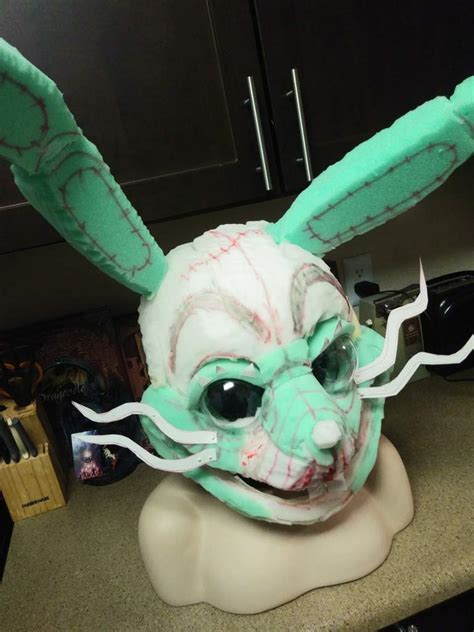 glitchtrap cosplay wip  fabrication  eyes