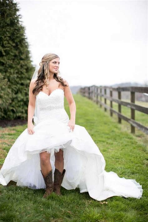 simple country style wedding dresses  boots trends