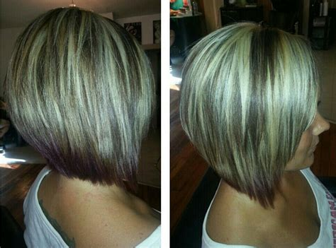 Highlights Angled Bob