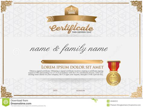 certificate design certificate design template stock vector illustration of level font 49484012