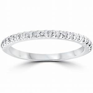 15 Cttw Diamond Stackable Womens Wedding Ring 10k White