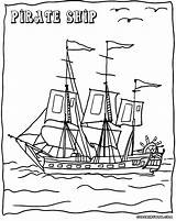 Pirate Coloring Pages Ship sketch template