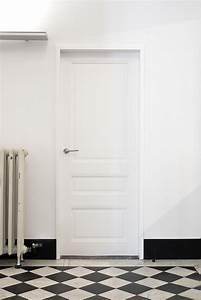 porte interieur blanc urbantrottcom With porte de garage enroulable et porte interieur laque blanc