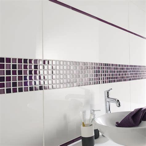 listel carrelage salle de bain listel colors violet tulipe l 2 x l 40 cm leroy merlin