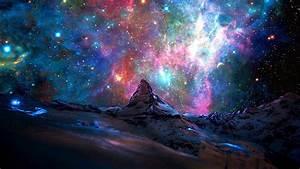 Matterhorn And A Galaxy