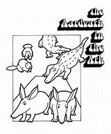 Aardvark Coloring Pages Sheet Animals Animal sketch template
