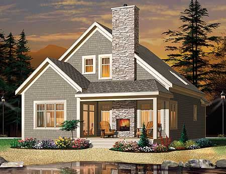 cottage  outdoor fireplace dr architectural designs house plans