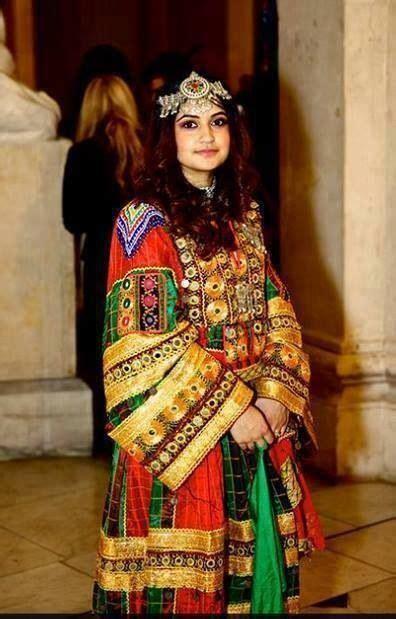 afghan girl afghanische kleider traditionelle kleidung
