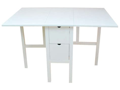 table cuisine pliante table pliante 80 cm tidy coloris blanc chez conforama