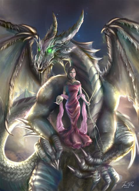 Epic Anime Girl Wallpaper Dragon Tamer By Conniebees On Deviantart