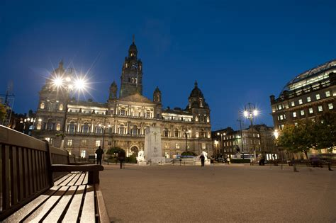 stock photo  george square  night photoeverywhere
