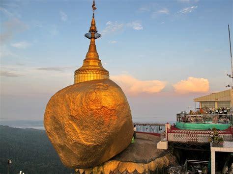 kyaiktiyo pagodamyanmar  beautiful places   world