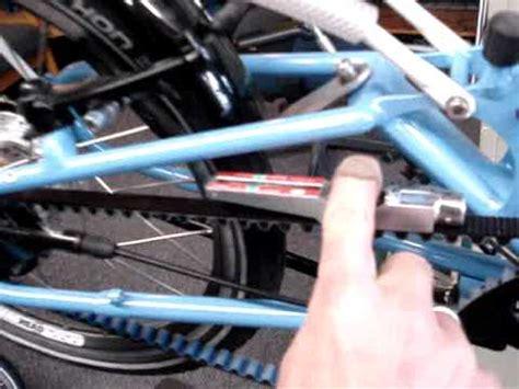 bike friday tikit maintenance adjusting  tension