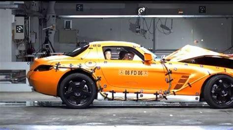 mercedes benz sls amg crash test