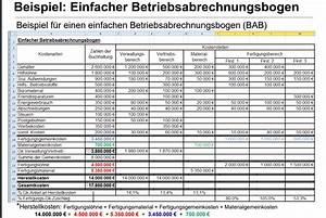 Fertigungsmaterial Berechnen : rechnungswesen betriebsabrechnungsbogen studium ~ Themetempest.com Abrechnung