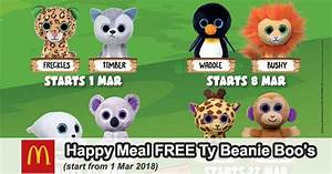McDonald's Malaysia Happy Meal FREE Ty Beanie Boo's Toys
