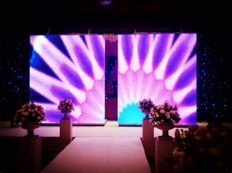 aluminum stage platform led screen opening closing mmin