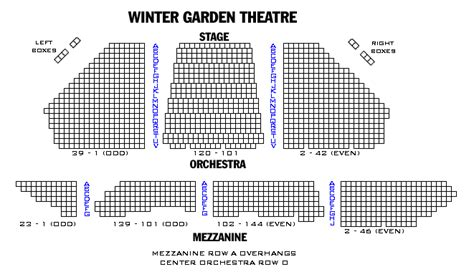 winter garden theatre seating chart broadway playbill