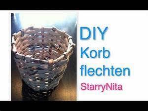 Aufbewahrung Körbe Geflochten : diy aufbewahrung korb youtube ~ Watch28wear.com Haus und Dekorationen