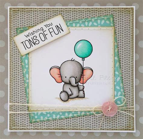 cute handmade elephant birthday card image  adorable