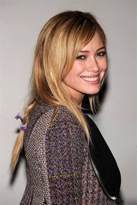 hilary duff long braided hairstyle long braided
