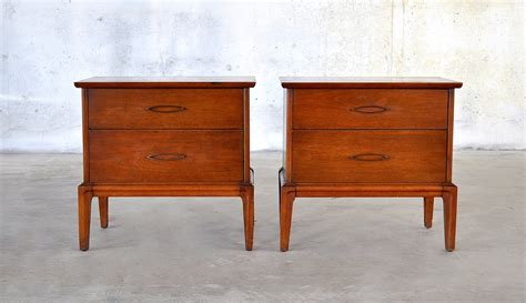 mid century modern nightstands select modern pair of mid century modern nightstands
